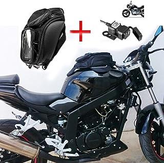 pour Honda Hornet 600 ABS Sac A Dos du R/ÉSERVOIR GIVI EA106B 6LT avec AIMANTS pour Motocyclette Fixation Universel avec 2 AIMANTS ET 4 Ceintures 130X160X310MM