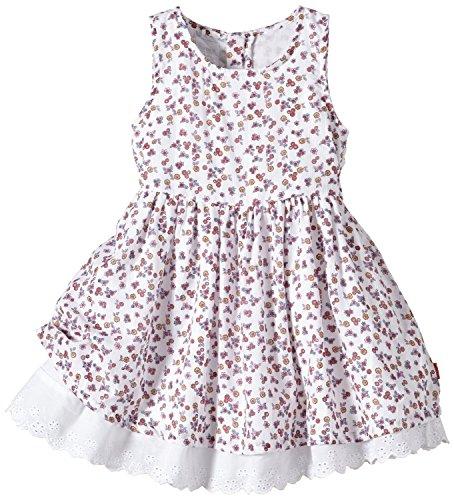 Name It Robe Bébé Fille 1309 7006 Hesanne Blanc Motifs Floral - Taille - 18-24 Mois