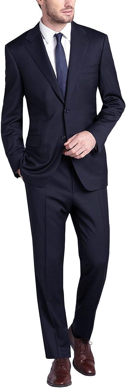 DTI GV Executive Men's Two Button Suit Modern Fit Blazer Jacket Pants 2 Piece