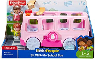 Little People 887961553390, Fisher-Price Sit with Me Pink School Bus, Brown