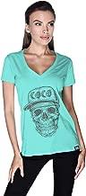 Creo Black Coco Skull T-Shirt For Women - M