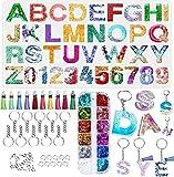 YFWUQI Stampi in Silicone per Resina Alphabet und Numero, Stampo in Resina Epossidica con Polvere...