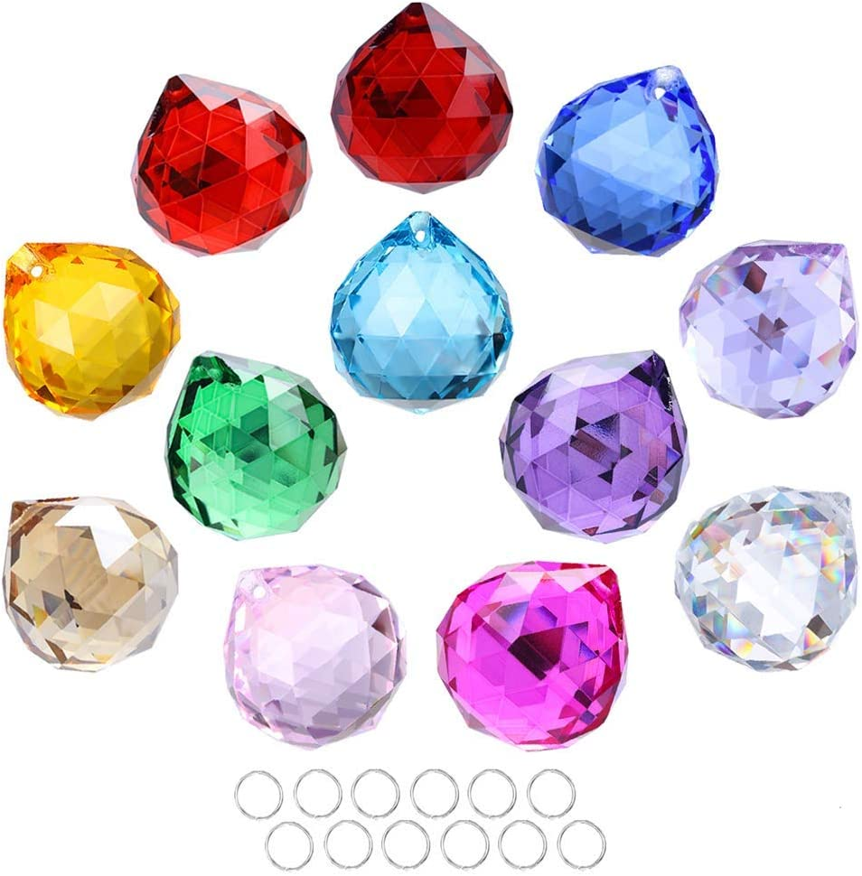 Crystalsuncatcher 30mm Low price Vintage OFFicial mail order Feng Shui Decorating Faceted Crys