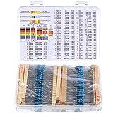 Kit di 1460 resistori, 73 diversi valori, tolleranza 1%, da 1 Ohm a 1 MOhm, da 1/4 W, Resi...