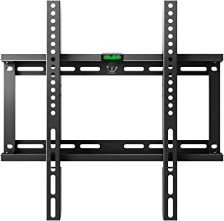 Fixed TV Wall Mount Bracket for Most 23-55 Inch LED LCD OLED Plasma Flat Curved Screen TVs, Low Profile, Up to VESA 400x400mm, Fits 16
