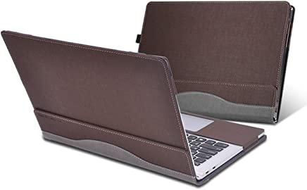 Heycase Compatible for Lenovo Thinkpad X1 Yoga Case Cover 14 inch 1st Gen & 2nd Gen & 3rd Gen Laptop(Not fit Thinkpad X1 Yoga 4th Gen),PU Leather Folio Stand Protective Hard Shell Case, Coffee