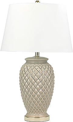 "Sagebrook Home 50075-04 Ceramic Textured Table, Light Gray, 30"" Lamps"
