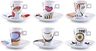 """Zeller 26505 Service """"Faces"""" à expresso en porcelaine, 12 pièces"""