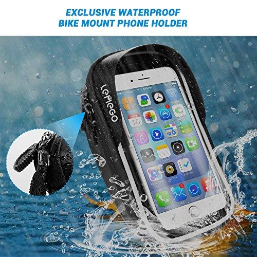 LEMEGO Wasserdicht Fahrradlenkertasche Handyhalterung Handyhalter Fahrrad Tasche Fahrradtasche Rahmentaschen für Handy GPS Navi und andere Edge bis zu 6 Zoll Geräte - 5