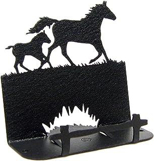Innovative Fabricators, Inc. Mare & Foal Horse Business Card Holder