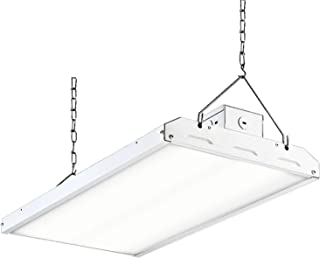 Hykolity LED High Bay Shop Light, 2FT 110W 135LM/W Linear LED Industrial Workshop Light, Warehouse Aisle Area Light 14850lm, 5000K, 4 Lamp Fluorescent Equivalent, 1-10V Dim, UL, DLC Premium Complied