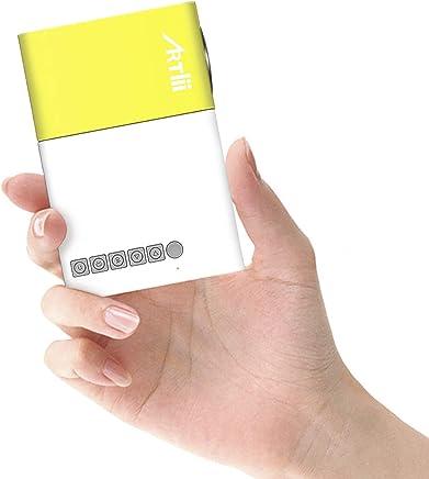Mini Proyector, Artlii Proyector de Bolsillo con la Entrada de USB/SD/AV/HDMI para el Interfaz Teléfono Inteligente / TV / Películas / Juegos / Exposiciones