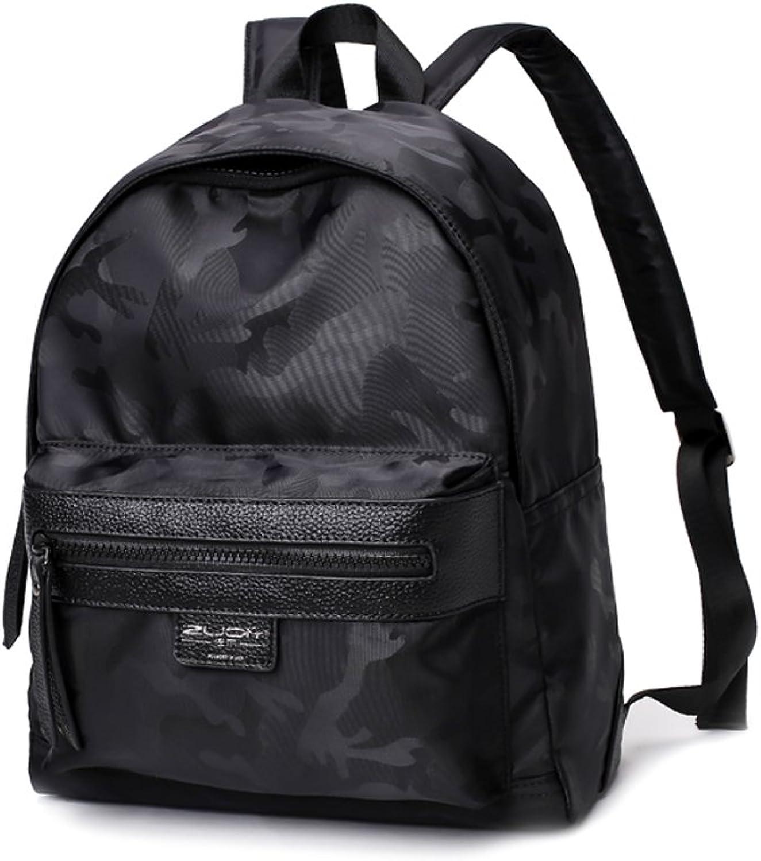 CQ Oxford Cloth Shoulder Bag Han Edition Backpack Girl Leisure Nylon Satchel Female (color   Black, Size   27  13  32cm)