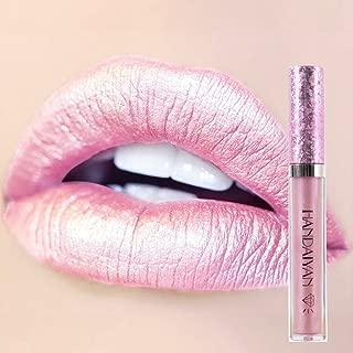 DONGXIUB Metallic Diamond Liquid Glitter Shimmer Lipstick Nonstick Cup Makeup Lip Gloss