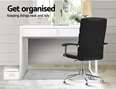Artiss Office Computer Desk Wooden Metal Home PC Gaming Study Table White