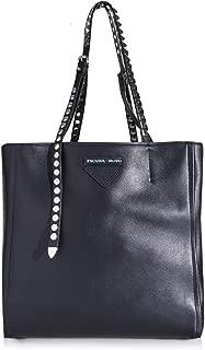 Women's Concept Etiquette Nero Black Calfskin Calf Leather Tote Bag 1BG208