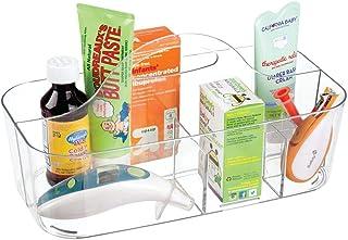 mDesign Boîte de rangement pour accessoires de bébé – Panier rangement bébé – 6 casiers de produits pour bébé – Rangement ...