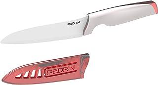 Pedrini - Cuchillo de hoja, cerámica, color blanco, cerámica, blanco, lama 13 cm