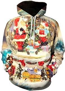 Hoodie Sweatshirt Mens Christmas Hooded Tops Blouse Autumn Outwear Coats