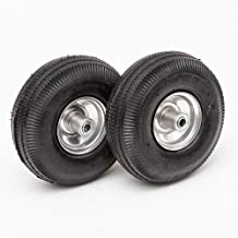 Lapp Wheels 4.10/3.50-4 Pneumatic Wheel, Wagon/Utility cart/Hand Truck Replacement, Gray, Set of Two