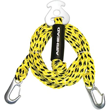 18.3 meter Length 60 Feet Maxium For Three Rider or 510 Pounds PP Material MIPSPORT Inflatable Towable Ski Tow Rope Yellow Color
