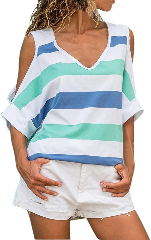 DIMANUL Womens Cat Printing Short Sweatshirt Pullover Tops Blouse T Shirt Summer Short Sleeve Sexy