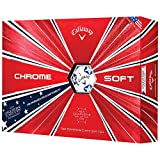 Callaway CHROME SOFT TRUVIS USA EDITION STARS & STRIPES GOLF BALLS -DOZEN PACK