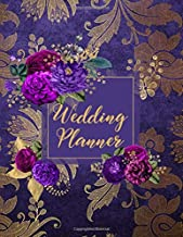 Wedding Planner: Vintage Purple Wedding Planning Organizer with detailed worksheets, budget planner, guest lists, seating charts, checklists and more.
