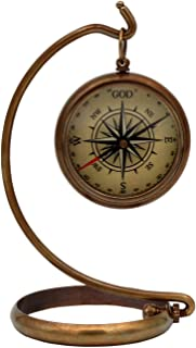 5MoonSun5's My ultimate Guide is God Compass with Display brass Stand.Be Strong and Courageous, Do Not Be Afraid Engraved Compass, The Perfect Baptism,Missionary,Birthday or Confirmation Gift of Faith
