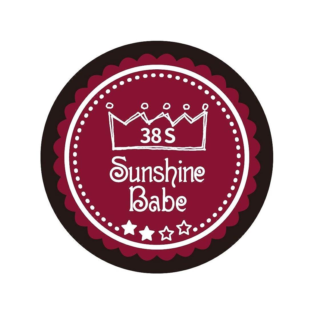 フレームワーク現金キャンプSunshine Babe カラージェル 38S レッドペア 4g UV/LED対応