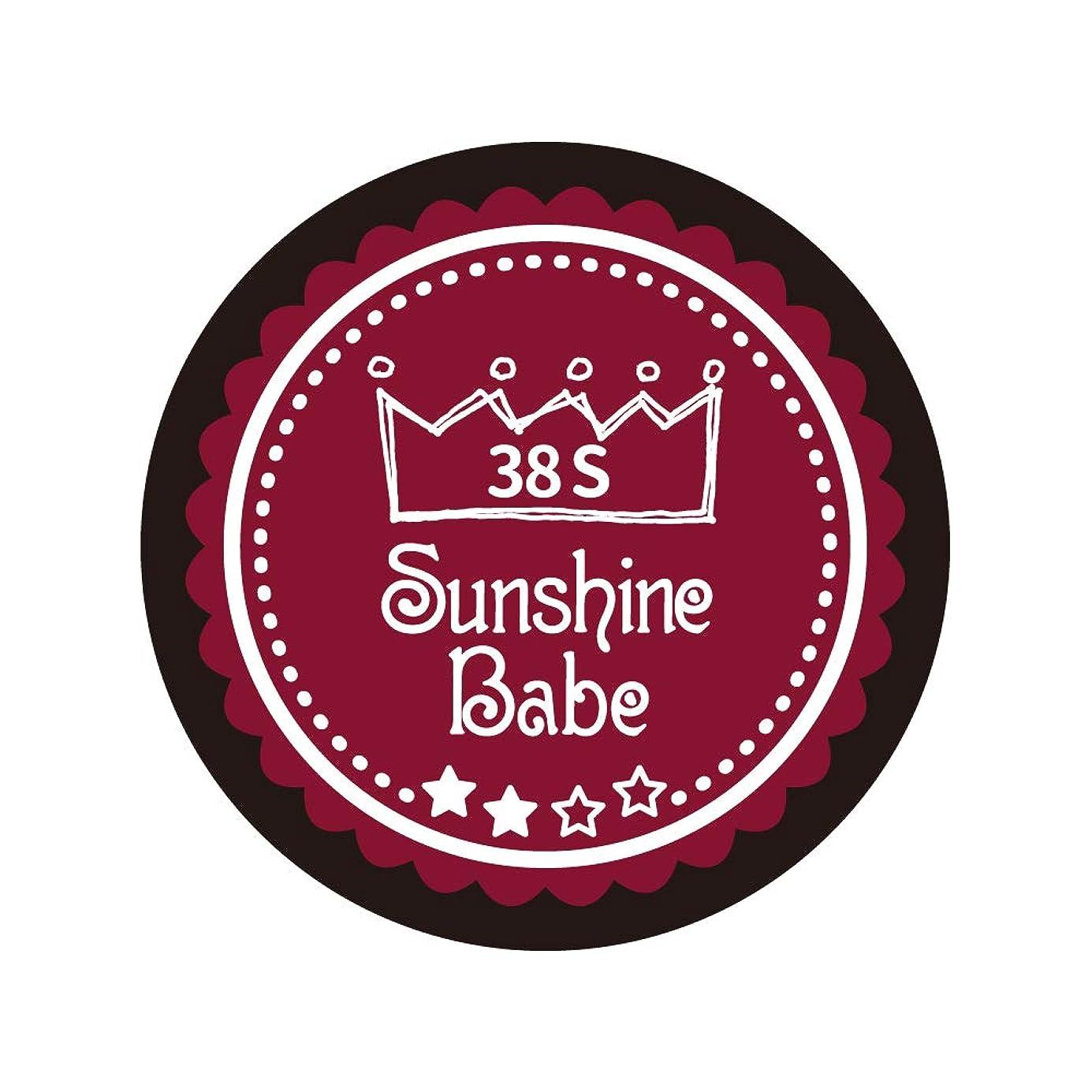 束収穫相互接続Sunshine Babe カラージェル 38S レッドペア 4g UV/LED対応