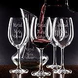 Juegos decantador y Copas de Vino (Set decantador y Copas Personalizados para Parejas - Regalo de Boda, San Valentín, Aniversario, Bodas de Oro o Bodas de Plata…)