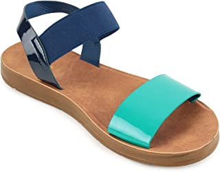 Chumbak Colour Block Slingback Sandals - 39
