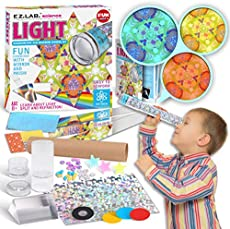 Kaleidoscope Making Kit for Kids with Optical Glass Triangular Prism, FunKidz Education Science Craft Kit for Boys and Girls Aged 6 and Up Primary Grades Class Experiments Kit Party Activity Favors