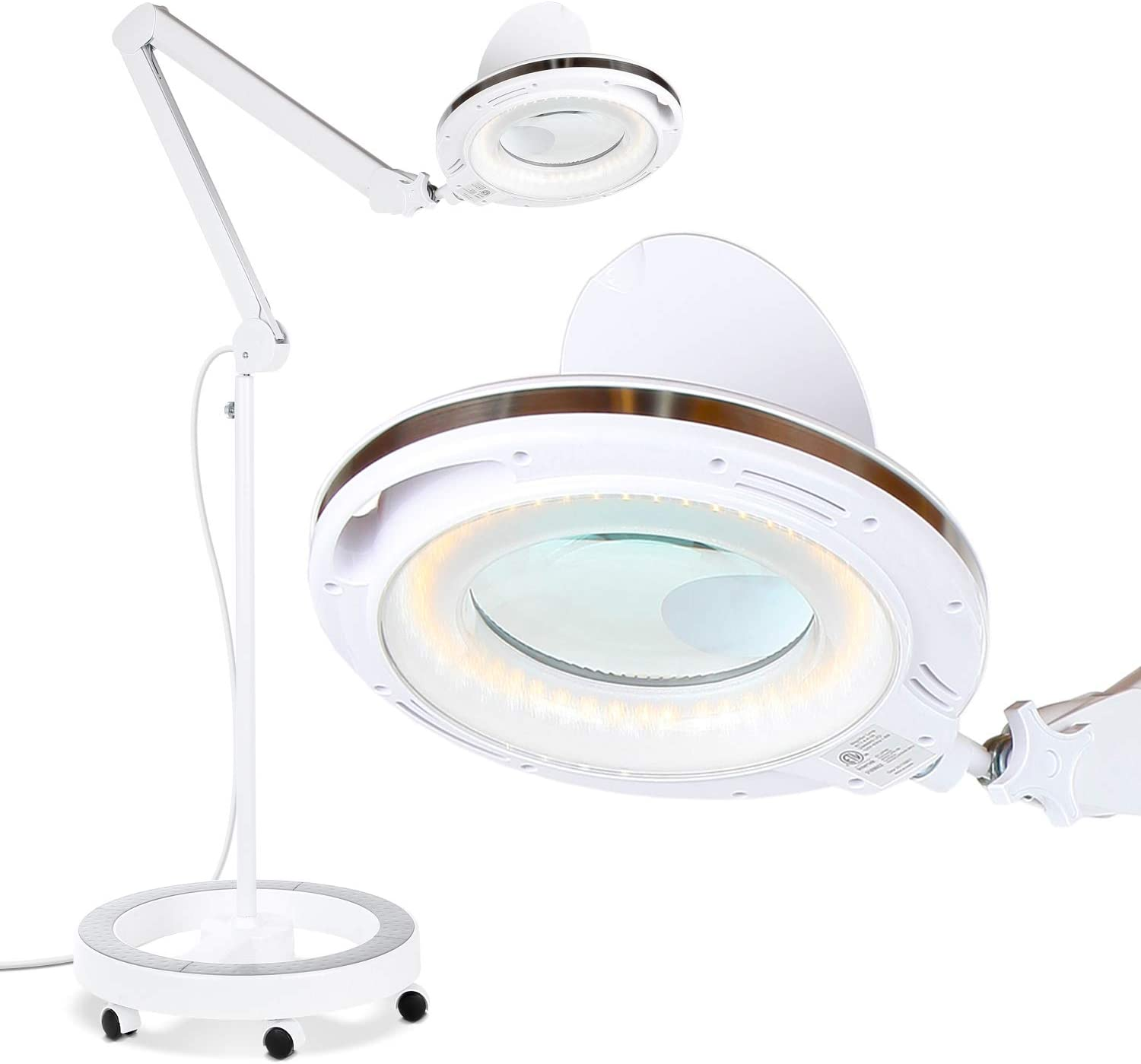 Brightech Import LightView Pro 6 Wheel Rolling Magnifying La 70% OFF Outlet Base Floor