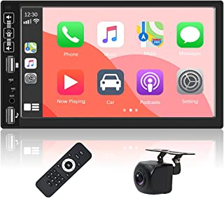 $88 » Double Din Car Stereo Receiver Compatible with Apple Carplay & Android Auto 7 Inch Touch Screen Car Radio with Bluetooth F...