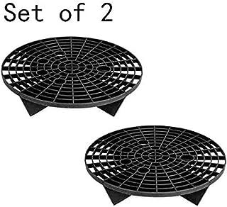 HomoTrends Ensemble de 2filtres anti-grains en plastique pour seau de nettoyage de voiture Noir