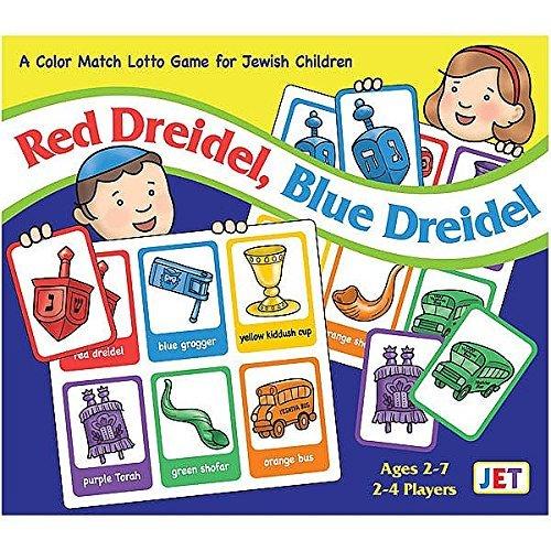 Red Dreidel, Blue Dreidel Jewish Color Match Lotto Game