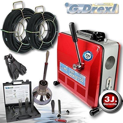 G. Drexl GmbH & Co. KG Rohrreinigungsmaschine Profi Set-8/16/22 mm Maxi Power 150 inkl. Spiralschutzschlauch