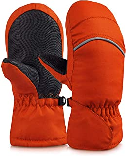 YASSUN 防水冬季雪手套,运动保暖手套,适合儿童、婴儿、滑雪、滑雪、雪人、透气、防撕裂面料手套