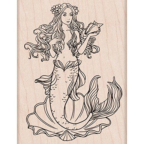 Hero Arts K6229 Woodblock Stamps, Mermaid