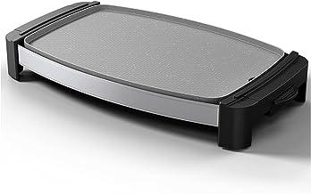 KBSN Gril sans fumée Gril d'intérieur Gril électrique Ultra antiadhésif, Surface Lavable au Lave-Vaisselle, Contrôle de la...