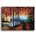 YaSheng Art -Landscape Oil Painting On Canvas Textured Tree Abstract Contemporary Art Wall Paintings Handmade Painting Home Office Decorations Canvas Wall Art Painting from YaSheng Art