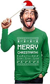 Merry Christmath Funny Math Ugly Christmas Sweater Long Sleeve T-Shirt