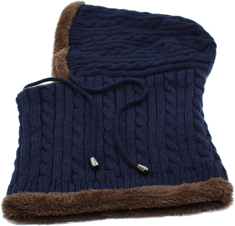 Qlskf Winter Knitted Hat Beanie Men Scarf Beanies Winter Hats for Women Men Caps Bonnet Mask Hats