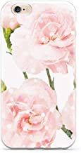 Inspired Cases - 3D Textured iPhone 6/6s Case - Protective Phone Cover - Rubber Bumper Cover - Case for Apple iPhone 6/6s - Pink Carnations - Geometric Overlay Case