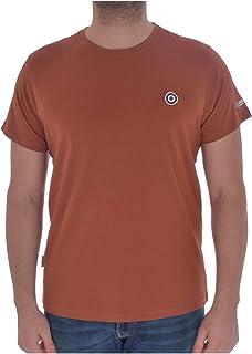 Lambretta Mens Core Target Cotton Short Sleeve T-Shirt Top - Arabian Spice - L