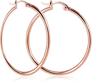 e34d144b6 Nikita By Niki ® Rose Gold Quality 18K Plated Hoop Earrings For Women