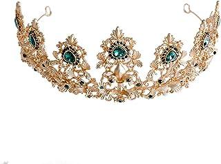RKY Ragazze Corona, Bambini Fascia Crystal Crown Copricapo Principessa Girl Corona Corona Verde della Ragazza tornante Sho...