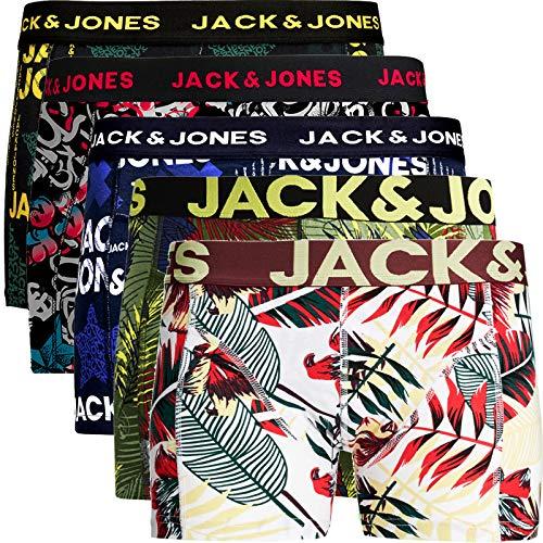 JACK & JONES Herren 5er Pack Boxershorts Mix Unterwäsche Mehrpack,5er Pack Bunt 2 Ohne Wäschesack,XL